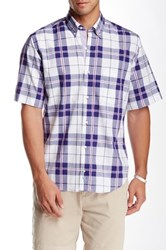 Tailorbyrd Plaid Short Sleeve Shirt Blue