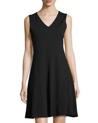 T Tahari Skyler Sleeveless V Neck Dress Black