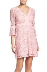 Charles Henry Women's Bell Sleeve Lace Dress