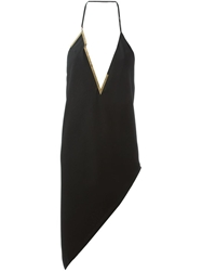 Anthony Vaccarello High Slit Dress Black