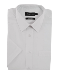 Double Two King Size Classic Shirt Sleeve Shirt White