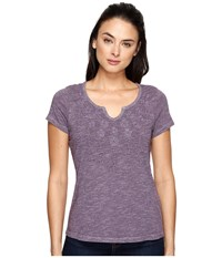 Aventura Clothing Maisie Short Sleeve Purple Sage Women's