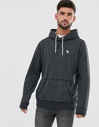 Abercrombie And Fitch Icon Logo Hoodie In Black