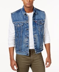 Levi's Men's Denim Trucker Vest Floyd