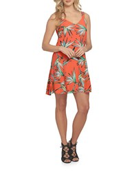 1.State Havana V Neck Shift Dress Coral Gem