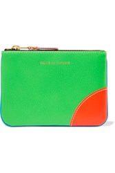 Comme Des Garcons Neon Leather Wallet Blue