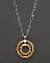Roberto Coin 18K Yellow Gold Plated Sterling Silver Double Circle Pendant Necklace 16