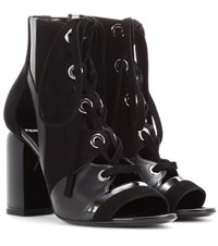 Pierre Hardy Alchimia Leather And Suede Sandals Black