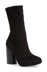 Women's Jeffrey Campbell 'Sequel' Mid Calf Boot Black Stretch Suede