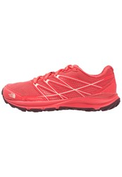 The North Face Litewave Endurance Hiking Shoes Cayenne Red Tropical Peach Anthracite