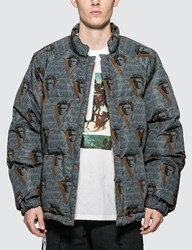 Undercover Valentino X Down Jacket With Vvv Print Grey