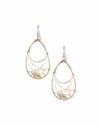 Nakamol Wire Wrapped Pearl Teardrop Earrings White