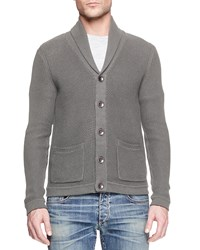Rag And Bone Rag And Bone Avery Shawl Collar Cardigan Charcoal Grey Size Xx Large