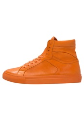 Boom Bap Karma Hightop Trainers Triple Orange