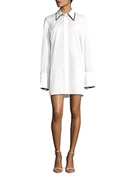 Celine Button Front Solid Shirt White