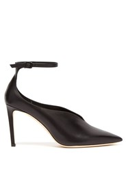 Jimmy Choo Sonia 85 Point Toe Ankle Strap Pumps Black