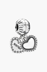 Pandora Design 'My Special Sister' Dangle Charms Set Of 2 Silver