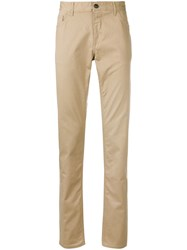 Michael Kors Collection Parker Slim Fit Trousers Neutrals