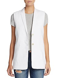 Helmut Lang Linen Blend Vest Optic White