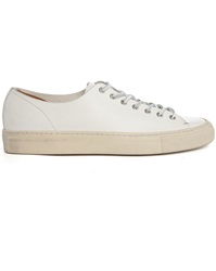 Buttero Tanino Low Gumsole White Leather Sneakers