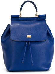 Dolce And Gabbana 'Sicily' Backpack Blue