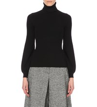 Karen Millen Bell Sleeve Turtleneck Jumper Black