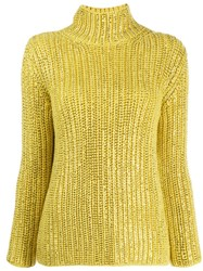 Ermanno Scervino Roll Neck Jumper Yellow