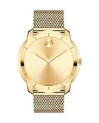 Movado 44Mm Bold Watch With Mesh Bracelet Gold