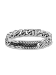 David Yurman Maritime Diamond And Sterling Silver Curb Link Bracelet