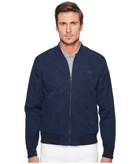 Fred Perry Tonic Tramline Bomber Jacket Dark Midnight Men's Coat Blue