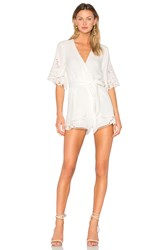Lovers Friends Brixton Romper Ivory