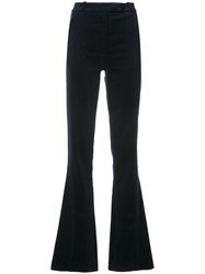 Martin Grant Flared Trousers Cotton Blue