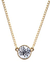 Givenchy Goldtone And Crystal Pendant Necklace