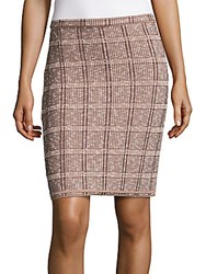 O'2nd Livart Textured Pencil Skirt Burgundy