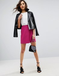 Asos Tailored A Line Mini Skirt Raspberry Pink