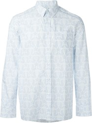 Givenchy Geometric Star Print Shirt Blue
