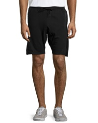 Sovereign Code Farrow Faux Leather Jogger Shorts Black