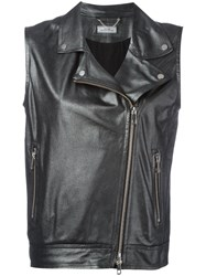 Desa 1972 Sleeveless Biker Jacket Black
