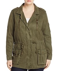 Lucky Brand Plus Drawstring Military Jacket Military Olive