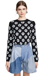 Sandy Liang Edith Sweater Black Ice Blue