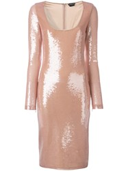 Tom Ford Sequinned Fitted Dress Pink Purple