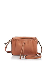 Etienne Aigner Ines Leather Crossbody Sandstone Tan Gold