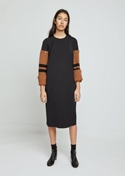 Hache Removable Wool Sleeve Dress Multi