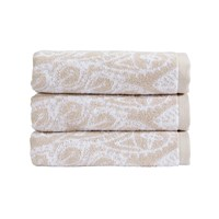Christy Secret Garden Towel Latte Bath Towel