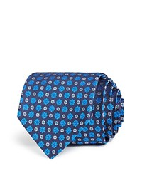 Bloomingdale's The Men's Store At Small Floret Medallion Classic Tie Black Blue