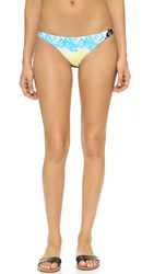 Milly Banana Leaf Mediterranean Bikini Bottoms Azure
