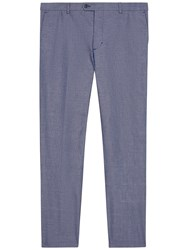 Jaeger Cotton Chambray Slim Fit Trousers Chambray