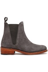 Grenson Suede Ankle Boots Charcoal