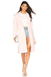 Norma Kamali Double Breasted Trench Pink