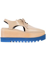Stella Mccartney Cut Out Elyse Shoes Women Wood Artificial Leather Rubber 38.5 Nude Neutrals